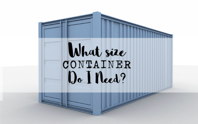 What Size Container Do I need?
